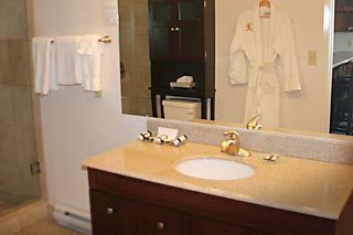 Finely appointed bathrooms